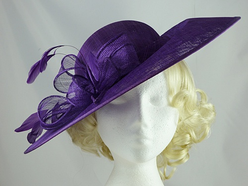 381354a3e20ad Failsworth Millinery Disc Events Hat in Purple - Wedding Hats 4U