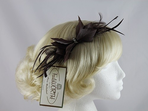 Failsworth Millinery Bow Feather Fascinator