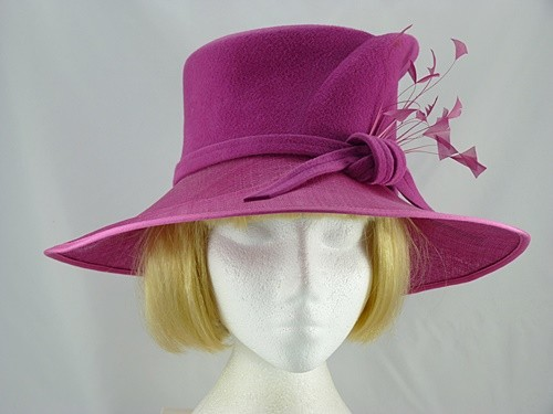 223b66d7ba52d Wedding Hats 4U - Failsworth Millinery Pink Winter Occasion Hat