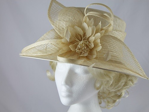 Failsworth Millinery Cream Flower Wedding / Events Hat