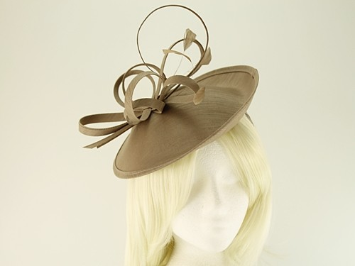 Failsworth Millinery Silk Disc with Matching Silk Occasion Bag