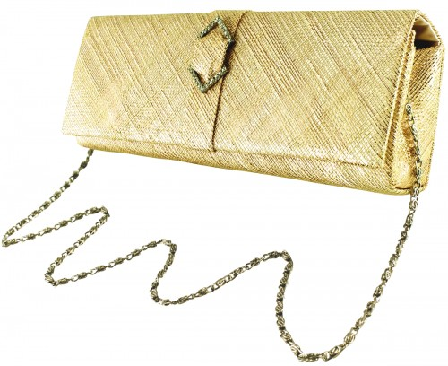 Failsworth Millinery Sinamay Occasion Bag in Fizz-Gold