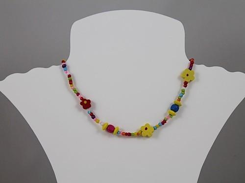 Flower Necklace and Bracelet Set