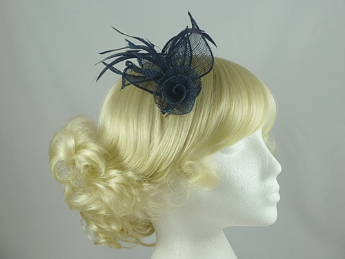 Aurora Collection Flower & Leaves Fascinator