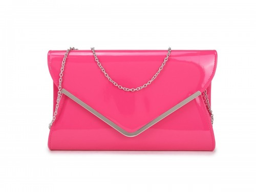 Papaya Fashion Patent Large Clutch Bag