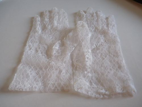 Wedding gloves White lace
