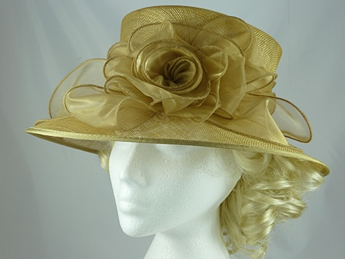 177d2b114c113 Wedding Hats 4U - Failsworth Millinery Wedding Hat in Gold