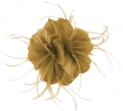 Failsworth Millinery Feather Fascinator in Gold