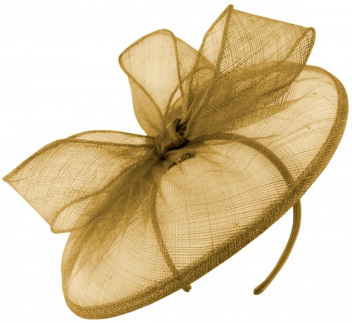 Failsworth Millinery Disc Headpiece in Gold