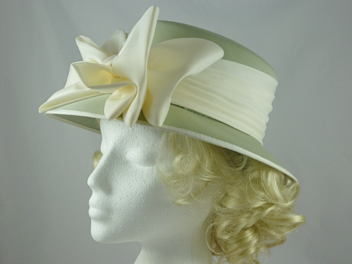 Sage Green and Cream Wedding Hat