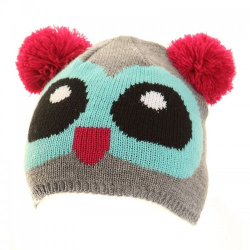 5fe6e0d8b Jiglz Knitted Novelty Kids Ski Hat and Gloves in Grey