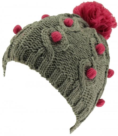 SSP Hats Bobbles Knit Beanie Bobble Hat