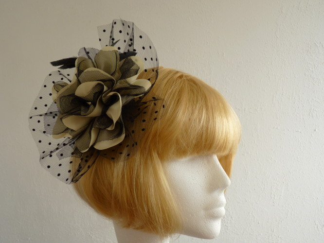 Fascinator Large Black and Green