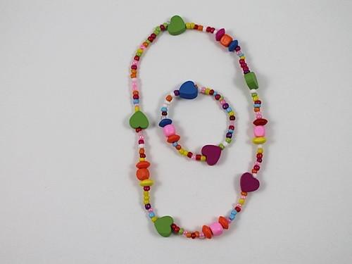 Heart Necklace and Bracelet Set