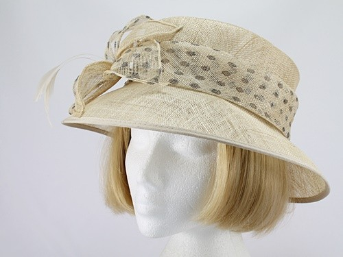 Honeycomb and Brown Wedding Hat