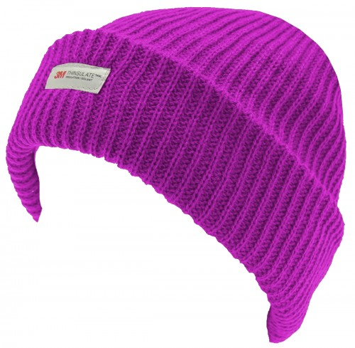 Thinsulate Ladies Beanie in Hot Pink