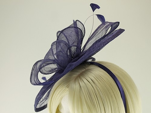 Failsworth Millinery Sinamay Disc Headpiece with Matching Sinamay Bag