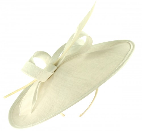 Failsworth Millinery Silk Disc Headpiece with Matching Silk Bag