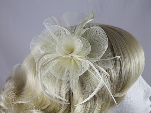 Aurora Collection Swirl & Biots Fascinator on aliceband