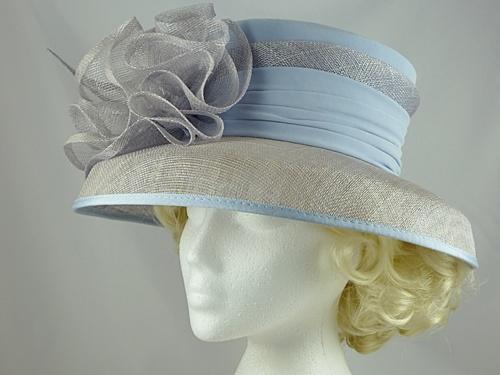 8805ba1e93e9f Jacques Vert Light Blue Wedding Hat in Blue