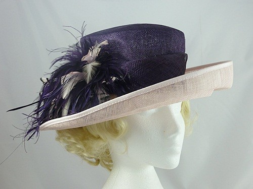ae400748e3d Wedding Hats 4U - Jacques Vert Pink and Purple Wedding Hat