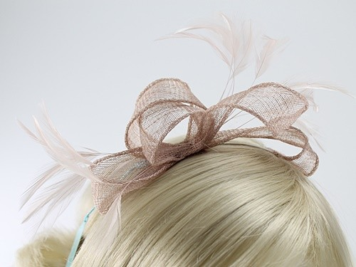 Max and Ellie Sinamay Fascinator with Matching Occasion Bag