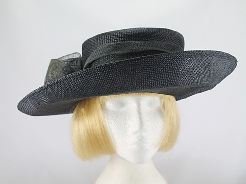 Laura Ashley Black and Charcoal Formal Hat