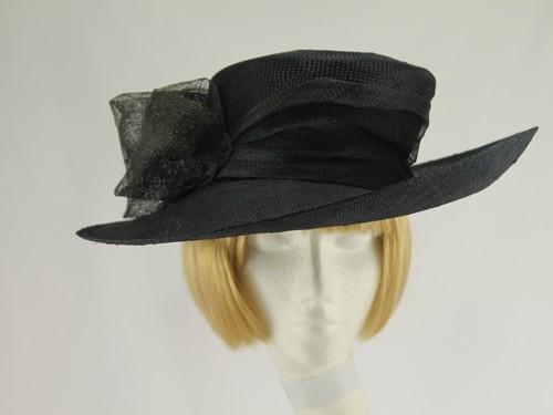 Laura Ashley Black and Grey Formal Hat