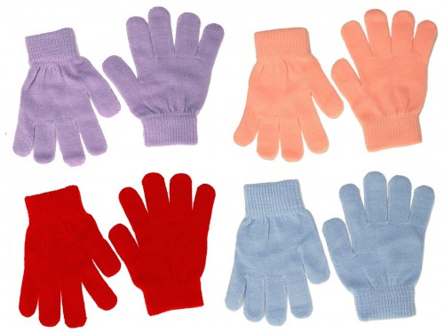Magic Set of Four Childrens Stretchy Gloves