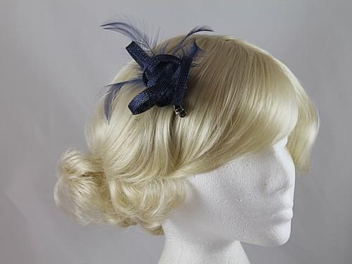 d06c34da0c47a Wedding Hats 4U - Elegance Collection Small Loops Clip Fascinator in ...