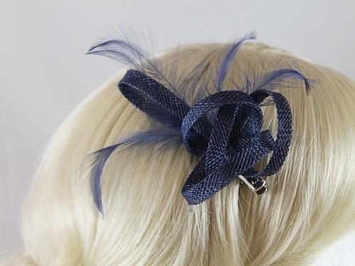 df4a7ca2c015e Fascinators 4 Weddings - Elegance Collection Small Loops Clip ...
