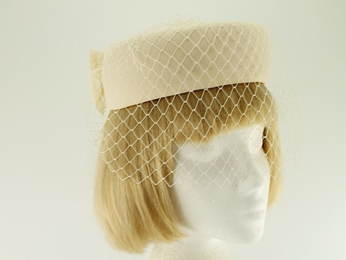 Light Peach Formal Hat