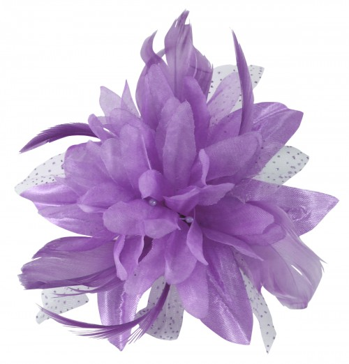 Aurora Collection Flower with Biots Fascinator