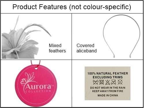 Aurora Collection Feather Aliceband Fascinator