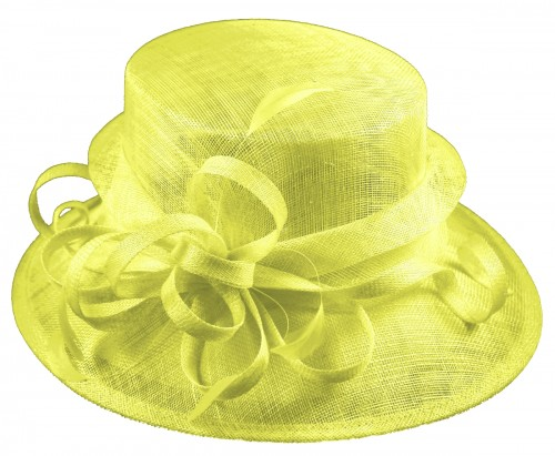 Elegance Collection Sinamay Loops Wedding Hat in Lime