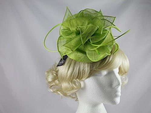 0741d15a Wedding Hats 4U - Failsworth Millinery Sinamay Pillbox in Lime