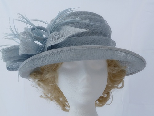 5523e2917c982 Hatmosphere Collection Pale Blue Occasion Hat in Light Blue