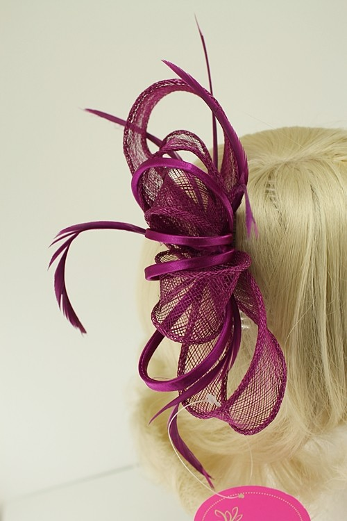 Aurora Collection Satin Loops Comb Fascinator