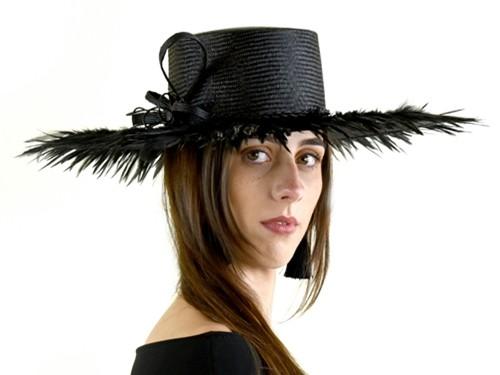 Matthew Eluwande Millinery Black Parasisal Hat