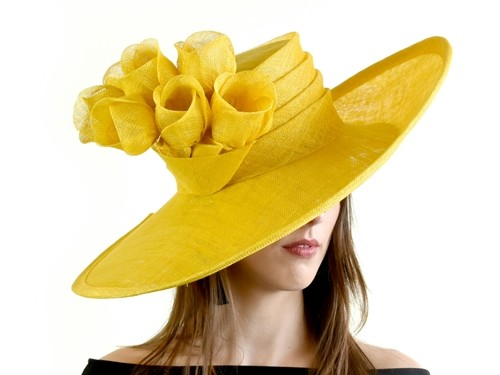 Matthew Eluwande Millinery Yellow Ascot Hat