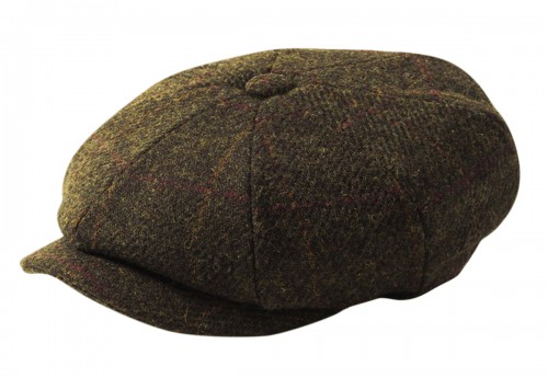Failsworth Millinery Carloway Flat Cap in Mocha