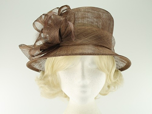82016229 Ascot Hats 4U - Hawkins Collection Down Brim Wedding Hat in Mocha ...