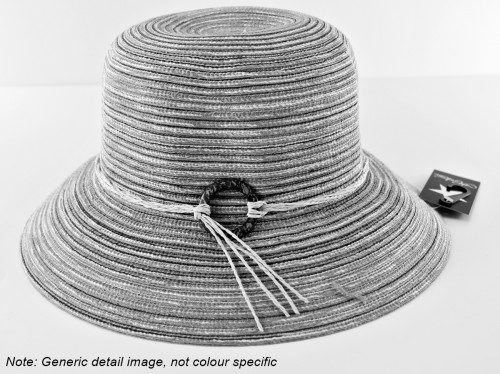 Hawkins Collection Striped Packable Straw Hat