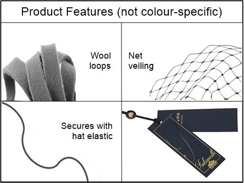 Failsworth Millinery Veiled Wool Pillbox