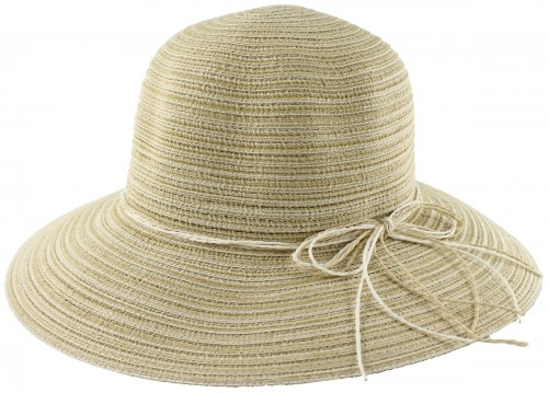 Hawkins Collection Wide Brimmed Straw Hat with String Band