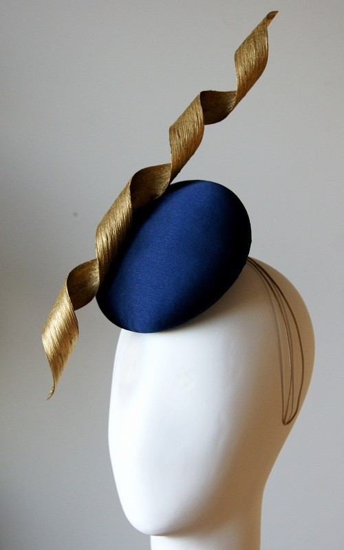 Esther Louise Millinery Corkscrew Silk Button