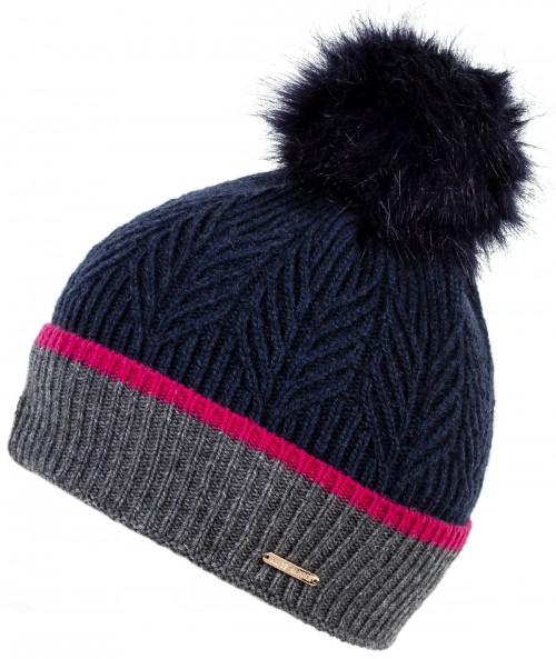 Alice Hannah Ella Knitted Wool Beanie Bobble Hat