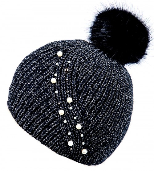 Alice Hannah Hermione Sparkly Ribbed Beanie