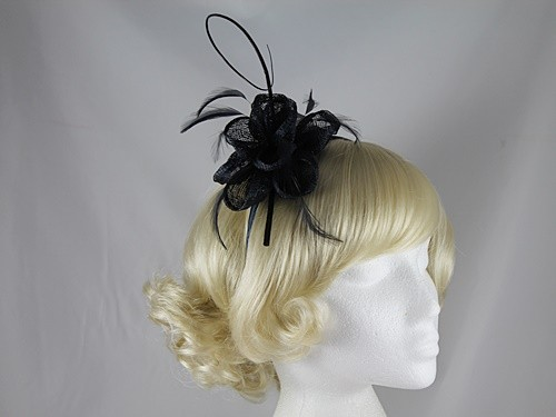 Elegance Collection Flower and Quill Headpiece