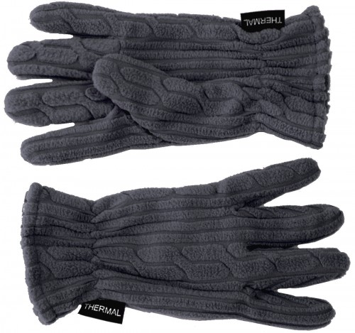 SSP Hats Thermal Patterned Fleece Gloves